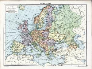 Europa en 1919.